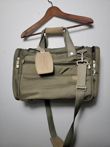 "Briggs & Riley  Olive Green Ballistic Nylon Duffel Travel Weekender Bag 16"""