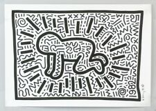 KEITH HARING HAND DRAWN & SIGNED * RADIANT BABY VARIANT * MIXED MEDIA ON PAPER