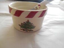 SPODE CHRISTMAS TREE Peppermint Dip Set Multi Ramekin Spreader XT5421-X NIB