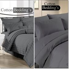 800 1000 1200 Thread Count 100% Egyptian Cotton US Size Grey Color Bedding Set