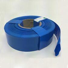 Blue Φ98mm Battery Sleeve Wrap PVC Heat Shrink Tubing Flat Width 155mm x 1M