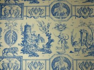 Lee Jofa DIANE CHASSERESSE Antique Toile Wallpaper BLUE Paper Craft Projects BTY