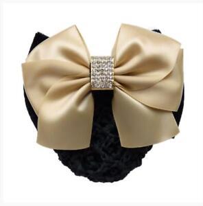 1Pcs Women's Hair Clip with Cover Net Bun Bow Barrette Snood Hairnet Accessories