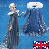 Froze22 Elsa Dress Up Girls Fancy Cosplay Kids Costume Party Outfit NEW
