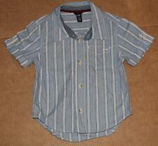 3t 3 Euc Gap Blue White Striped Short Sleeve Shirt Top Boys