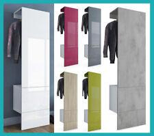 Placard penderie meuble hall d'entrée blanc béton bois  / Garderobe kast halkast