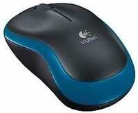 MOUSE WIRELESS M185 BLACK/BLUE Computer Products Mice - CJ67566