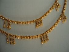 Gold plated anklets payal (length 10.5 inches, 5 mm wide)