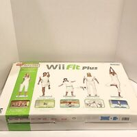 NEW WII Fit Plus W/ Balance Board Game Instructions Complete New in Box