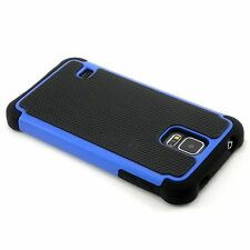 New Blue Heavy Duty Protection Hard Case For Samsung Galaxy S5 i9600 SV