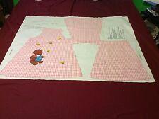 Little Girls Pink  Dress  Fabric Pattern Size 4 - 6 Just cut it out Bear Bees