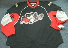 TEAM ISSUED REEBOK AHL PORTLAND PIRATES AUTHENTIC BLACK JERSEY SIZE 54