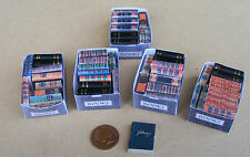 1:12 Scale Assorted Opening Books 2cm - 2.3cm High In A Box Tumdee Dolls House