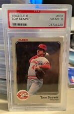 1983 Fleer Tom Seaver Cincinnati Reds #601 Baseball Card PSA 8