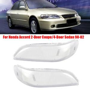 Car Headlight Cover Headlamp Clear Len Lampcover L+R For Honda Accord 2/4D 98-02