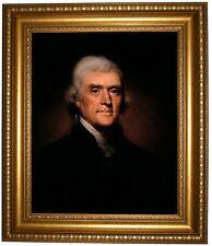 Peale Thomas Jefferson 1800 -Gold Framed Canvas Print Repro 22x26