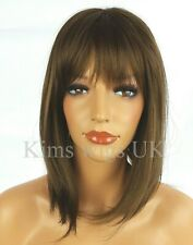 MEDIUM BROWN SHOULDER LENGTH LAYERED BOB WIG LADIES WOMENS FASHION HAIR UK