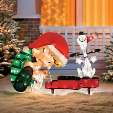 Outdoor Lighted Pre Lit Peanuts Snoopy Display Christmas Holiday Yard Decoration