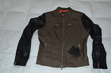 Authentic Dsquared2 Mens Motorcycle Nylon Leather Green Blk Jacket Euro 50/ US L