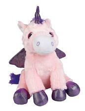 Ravensden Unicorn Winged Horse Pink and Purple Plush Cuddly Soft Toy 25cm FRS078