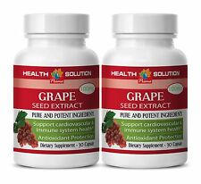GRAPE SEED EXTRACT 100mg High quality antioxidant - Vitis Vinifera 2 Bottles