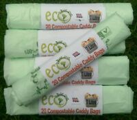 7L Compostable Biodegradable Food Waste Caddy Bin Liner Bio Eco Bags x 104 Bags