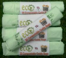 7L Compostable Biodegradable Kerbside Food Waste Caddy Bin Liner Bags x 104 Bags