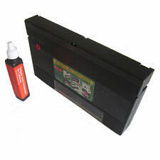 VHS Video VCR Head Cleaner + Cleaning Fluid Fast Post! Wet Dry Type System