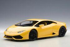 * Lamborghini HURACAN LP610-4 * Pearl Yellow * AUTOart 1:18 Model Car * NEUF *