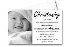 40 Personalised Girls Boys Christening Day Invitations Invites Ref C57