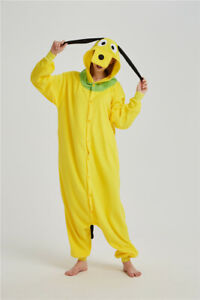 Yellow Dog Fancy Dress Unisex Adult Cosplay Costume Pajamas Homewear Xmas Gift