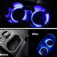 Solar Cup Pads Car accessories LED Light Cover Interior Decoration Light Lamp