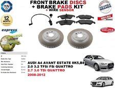 para AUDI A4 Familiar Discos freno Delantero Set + discos kit + CABLE del sensor