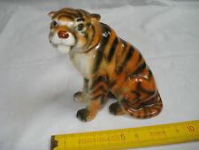 tigre du Bengale en porcelaine, ancien, bon état