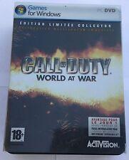Call Of Duty World At War Edition Limitée Collector Neuve Scellée Sur PC Windows