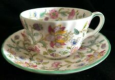 Minton Haddon Hall Green Trim Cup & Saucer (Multiples available)
