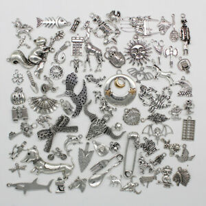 Wholesale Antique Silver Jewelry Finding Charms Pendants Carfts DIY