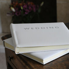 Leather Pale Ivory Wedding Album, Wedding Photo Album, 30x30cm, 30pgs  (36B2)