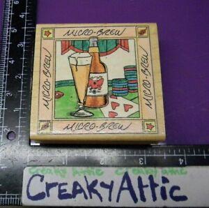 MICRO BEER BOTTLE POKER CARDS FRAME RUBBER STAMP IN MOTION CREAKYATTIC