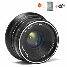 7artisans 25mm F1.8 Black Manual Focus Prime Fixed Lens For Canon EOS M Mount
