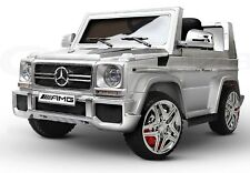 Mercedes Benz Truck G65 12V Battery Ride On Toy Car Remote Control Silver