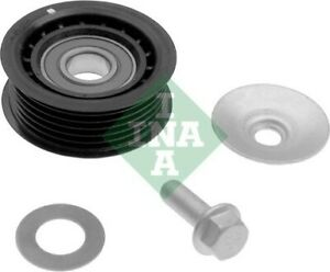 SAAB 9-5 YS3E 2.0 Aux Belt Idler Pulley 97 to 09 394666RMP Guide Deflection INA