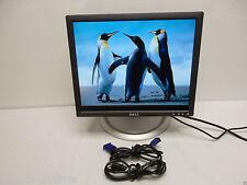 "Dell UltraSharp 17"" LCD Monitor 1704FP 4-Port USB HUB VGA DVI H6304 Y4299 J6642"