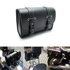 PU Leather Bag Saddlebag Sissy Bar Bag Tool Pouch for Harley Honda Yamaha BMW