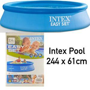 Intex Swimming POOL 244 x 61 cm Family Kinderpool PLANSCHBECKEN Badespaß
