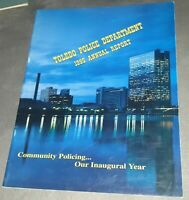 TOLEDO OHIO POLICE DEPARTMENT 1995 ANNUAL REPORT book LOTS OF COLOR PICTURES