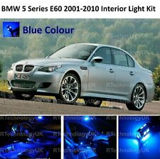 PREMIUM BLUE BMW 5 SERIES E60 2001-2010 INTERIOR WHITE UPGRADE LED LIGHT BULBS