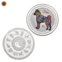 WR 2018 Chinese Zodiac Year Of The Dog SILVER Coin 12 Animal Signs Collectibles