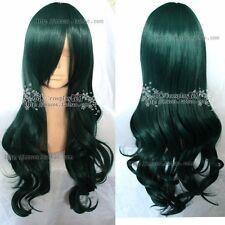 DEAD MASTER Cosplay New Long Dark green Curly Wig