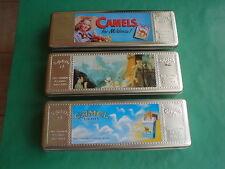 CAMEL - 3 x boîtes métalliques - étuis à cigarettes - tins - cases